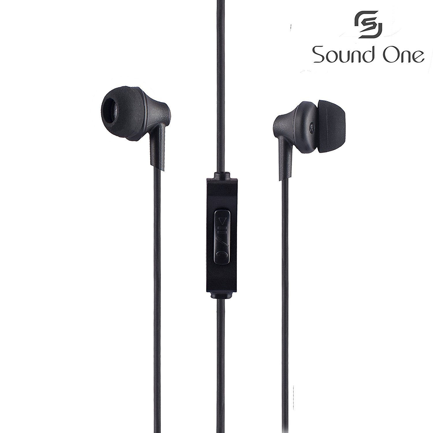 Sound One 616-P In Ear Earphones with MIC (Black)