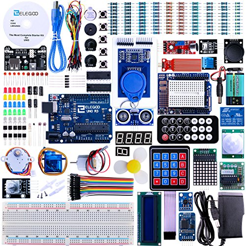 Elegoo-UNO-R3-Project-Complete-Starter-Kit-with-Tutorial-for-Arduino-MEGA2560-NANO-63-Items