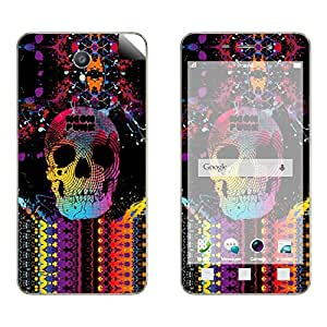 Skintice Designer Vinyl Skin Sticker for OPPO Joy 3, Design - colorful skull