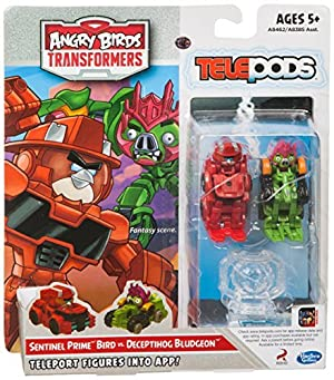 Angry Birds Transformers Telepods Sentinel Prime Bird vs. Deceptihog Bludgeon Figure Pack by Angry Birds Transformers