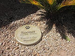 "Personalized Pet Memorial Step Stone 11""Diameter"" Forever in Our Memories"