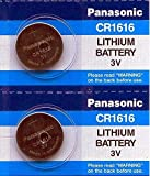 Panasonic Battery - 2 Pieces- CR1616 3V 3 Volt Lithium Coin Size Battery