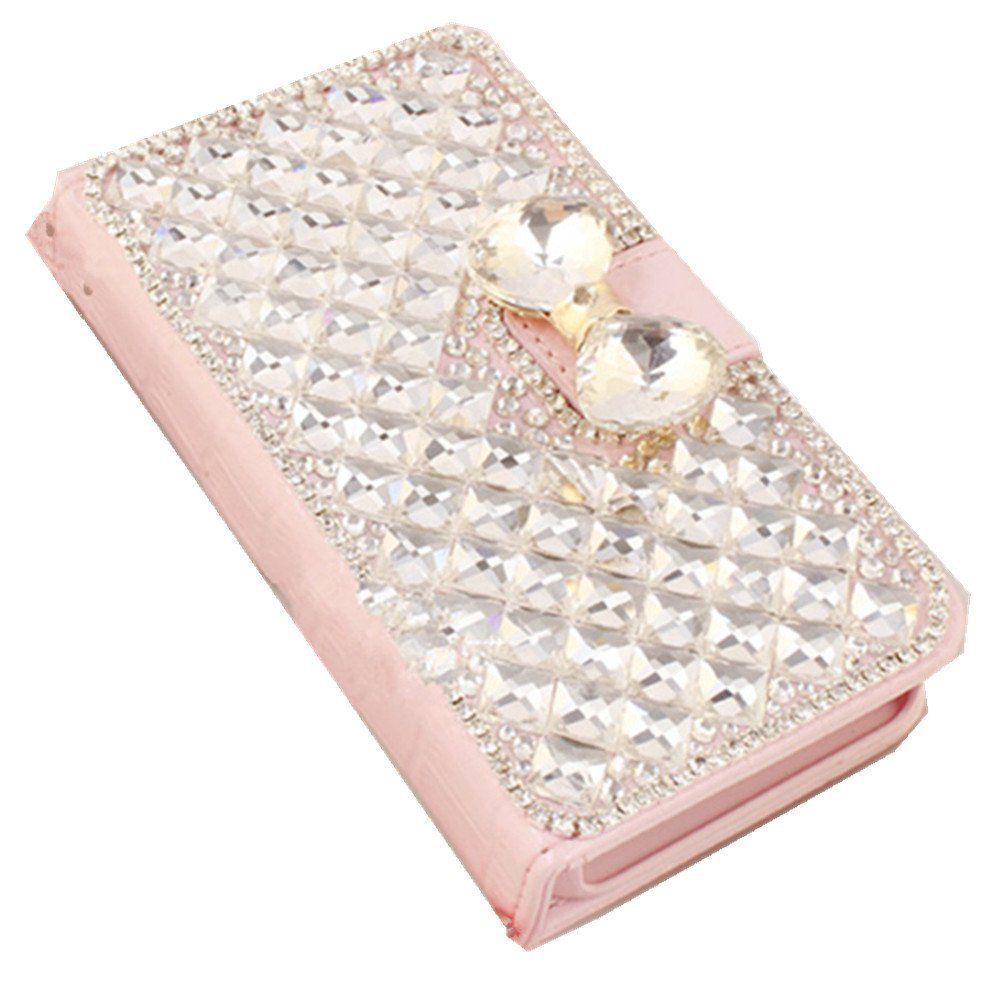 ink Crocodile Full Diamond GEM Series Luxury Crystal Diamond Bling Design PU Leather Wallet Cover Case for Samsung Galaxy S5 I9600