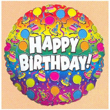 """36"""" Birthday Rainbow Betallic"""