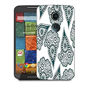 Snoogg Green Pattern Designer Protective Phone Back Case Cover For Moto X 2nd Generation