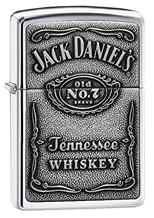 Zippo Jack Daniel's Label Pewter Emblem Pocket Lighter