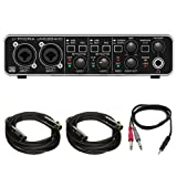 Behringer U-PHORIA (UMC204HD) Audiophile 2x4, 24bit/192kHz USB Audio/MIDI Interface w/ Pro DJ Bundle Includes, 1/8
