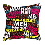 The Crazy Me Blahh Cushion Cover(16 By 16 Inch)