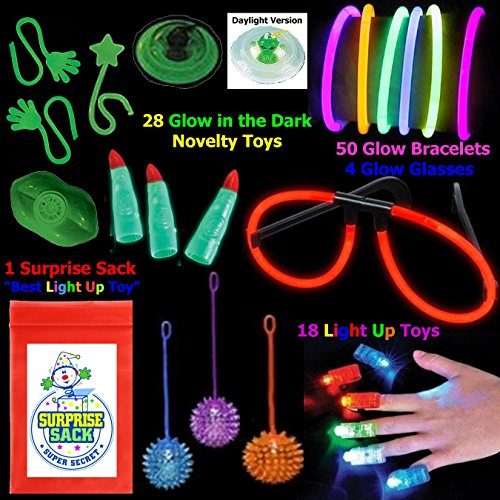 "Learn More About ""All That Glows"" 100 Pc Toy Assortment (Includes: Glow Bracelets, Glow in..."