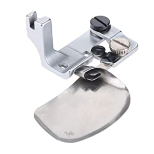Mgoodoo 1pc Hemmer Presser Foot Steel for Industrial Single Needle Sewing Machines 3/8=0.95cm (Color: Silver, Tamaño: 3/8=0.95cm)