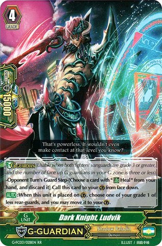Cardfight!! Vanguard TCG - Dark Knight, Ludvik (G-FC03/028) - Fighter's Collection 2016 (Dark Knight Collection)