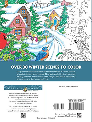 creative animals coloring book creative haven winter scenes coloring books for adults