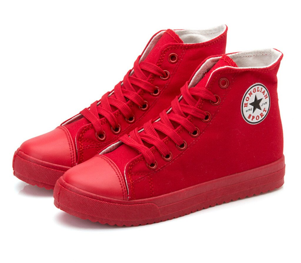 Womens's Pure Color High-Top Fashion Sneakers image