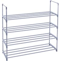 SONGMICS 4-Tier Shoe Rack (Grey)