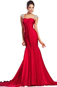 eDressit New Beading Straps Red Evening Dress Prom Ball Gown (00131002)       Customer reviews and more information