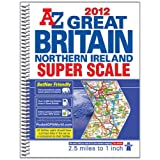 Great Britain Super Scale Road Atlas (A-Z Road Atlas)by Geographers A-Z Map...