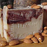 Almond Hazelnut Bar Soap with Organic Almond Butter (Body Soap) ~ Natural Handcrafted...