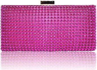 Kcmode Damen Designer Handtasches Damen Pink Sparkly Diamante Abend Party Clutch Handtasche