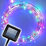 The Original Starry Solar String Lights by Brightech - Multi-Color LED's on a Flexible Copper Wire - 20ft LED Light String Set with Solar Panel - Your Easy Way to Create