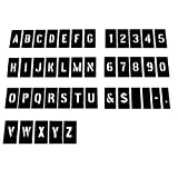 Attisstore 4 inch Plastic Interlocking Stencils Letters and Numbers 138 Piece Set, Black (Color: Black, Tamaño: 4inch)