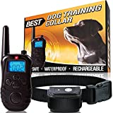 Best Dog Training Collar with Remote - (1000 FT RANGE) - Low Voltage Electric Shock & 100% Weatherproof - Pets of All Sizes (Puppy, Small, Medium, & Large Breeds) 3 Features Tone, Vibration, & Shock