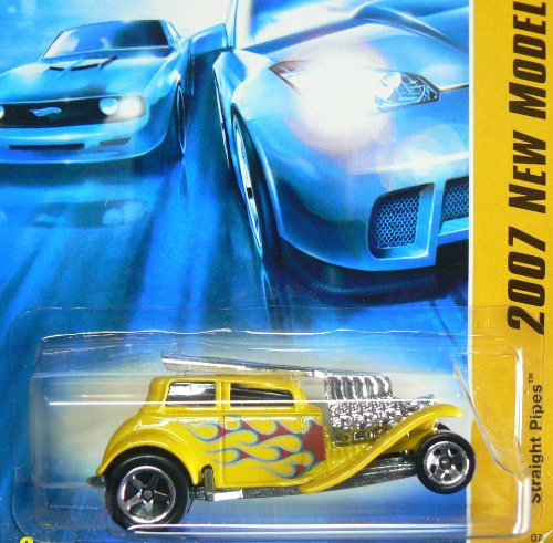 Hot Wheels Yellow Straight Pipes 2007 New Models #12 - 1