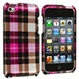 Pink Checkered Design Crystal Hard Skin Case Cover New for Apple Ipod Touch iTouch 4th Generation Gen 4g 4 8gb 32gb 64gb - Electromaster(TM) Brand