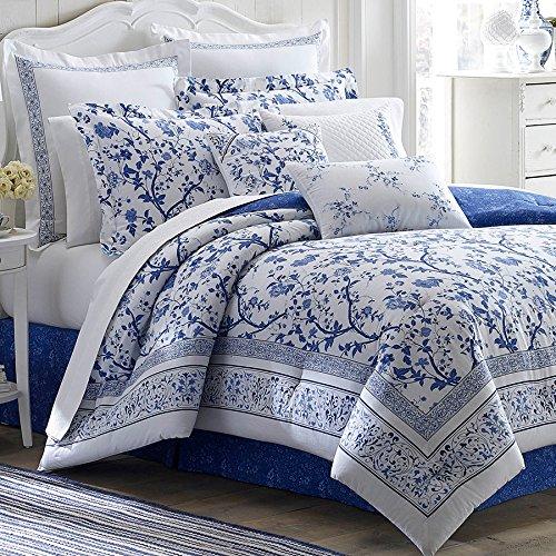 Queen Size Comforter Set Blue Bedding
