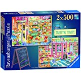 "Ravensburger ""Teatime Treats"" Jigsaw Puzzle (2 x 500-Piece, Multi-Colour)"