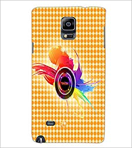 PrintDhaba Random Design D-4859 Back Case Cover for SAMSUNG GALAXY NOTE 2 (Multi-Coloured)