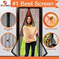 "Magnetic Screen Door, Full Frame Velcro. Fits Door Openings up to 34""x82"" MAX from iGotTech"