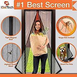 Magnetic Screen Door, Full Frame Velcro. Fits Door Openings up to 34