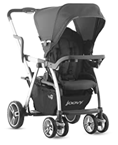 Joovy Caboose VaryLight Double Tandem Stroller, Charcoal