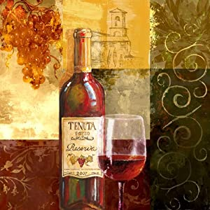 Yosemite Home Decor YF7319A Tuscan Vintage I Still Life Linen Print Artwork