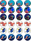 FINDING NEMO 24 EDIBLE WAFER - RICE PAPER CAKE TOPPERS EACH DESIGN IS 40mm IN DIAMETER