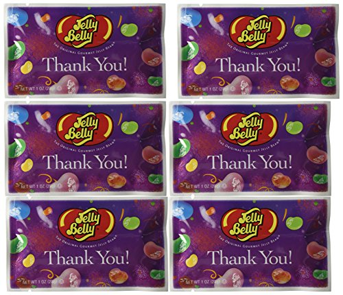 Jelly Belly Thank You Jelly Beans (30 Pack 1 Ounce Bags) Assorted Flavors - Great Party Favors - Kosher Certified & Gluten Free (Jelly Belly Thank You compare prices)