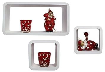 wandregal dekoregal w rfelregal cube regal im 3er set. Black Bedroom Furniture Sets. Home Design Ideas