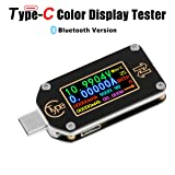 MakerHawk USB Power Meter, TC66 USB Tester Bluetooth Type C USB Voltage Meter and Current Tester, 0.96 Inch IPS Color LCD Display Power Tester Multimeter PD Ammeter Voltmeter QC 2.0 3.0 (Color: TC66 USB Tester Bluetooth)