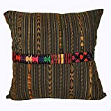 Laura Luna Textiles LL24-166 Ixil Pillow, 18-Inch by 18-Inch