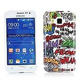 Kit Me Out IT Custodia in gel Gel TPU IMD per Samsung Galaxy Core Prime G360 - Multicolore / Bianco Fumetti