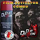 Combo Kit Z Nation Hydrographic Water Transfer Film Activator Combo Kit Hydro Dipping Dip Demon (Tamaño: 16oz Can of Activator + 20
