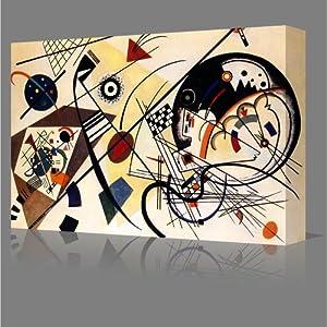 Unbroken Line WASSILY KANDINSKY Style Large Gallery Framed Canvas Art Print