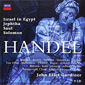 Haendel - Israel in Egypt · Jephtha · Saul · Solomon / Monteverdi Choir · English Baroque Soloists · Gardiner