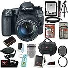 Canon EOS 70D SLR CMOS 20.2MP Digital Camera EFS 18-135mm Lens + 32GB Memory Card + Tiffen 67mm UV Protector & Circular Polarizing Lens Filter + Kit