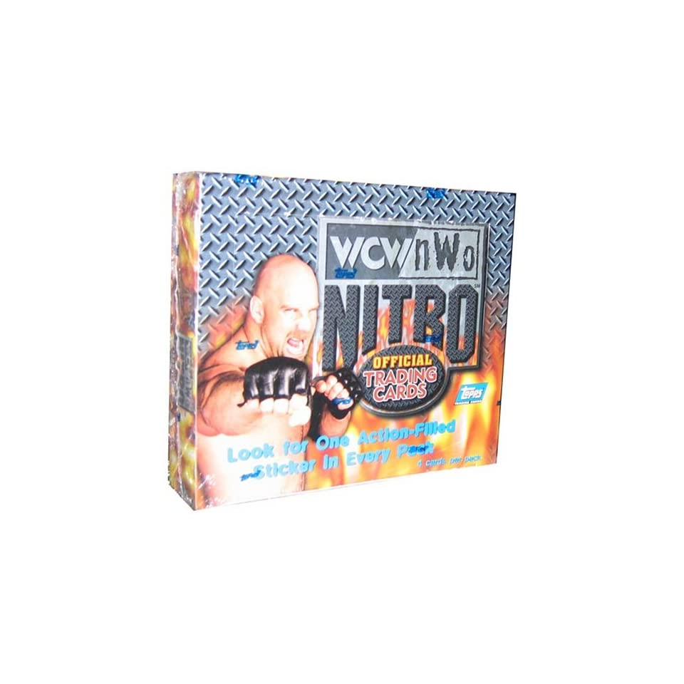 WCW Topps Nitro Wrestling Trading Cards Retail Box   24P4C