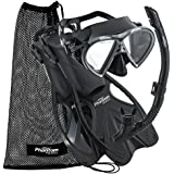 Phantom Aquatics Speed Sport Mask Fin Snorkel Set with Mesh Bag, Adult