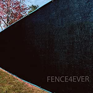 8 39 x25 39 black fence privacy screen windscreen for Garden screening fabric