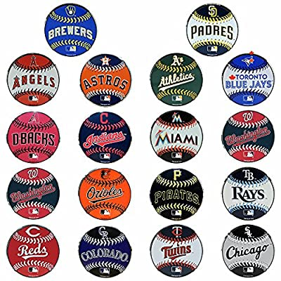 "MLB Officially Licensed Baseball Emblem Premium Aluminum Collectable 3.25""x3.25"""