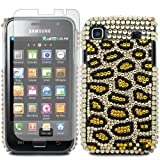 Diamond Leopard Spot Hard Mobile Phone Case Cover For Samsung Galaxy S GT-i9000 + Screen Film Protector / Yellow