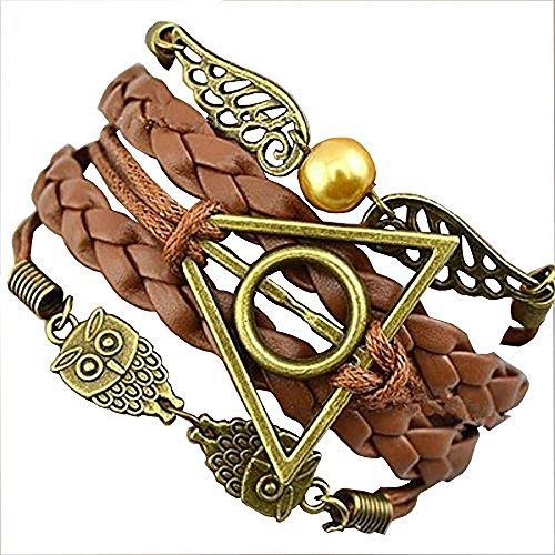 bentleys-bargain-warehouse-bracelet-en-cuir-tresse-avec-ailes-de-vif-dor-hiboux-et-breloque-relique-